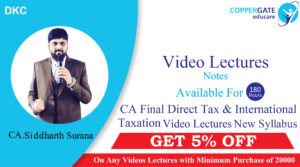 CA Direct Taxes Online Lectures