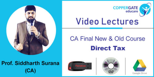 CA Final New & Old Course Direct tax by CA Siddharth Surana  [Revision] (DVD/Drive – 1 view)