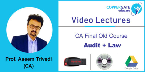 CA Final Old Audit+Law by CA Aseem Trivedi [COMBO ] (Pendrive – 3 views)