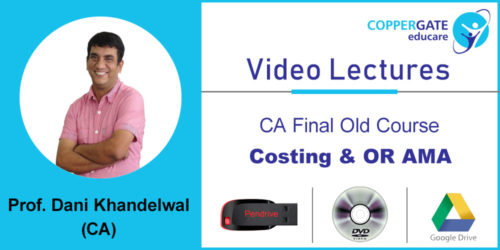 CA Final Old Course Costing & OR AMA by CA Dani Khandelwal [Crash Course] (2 views)