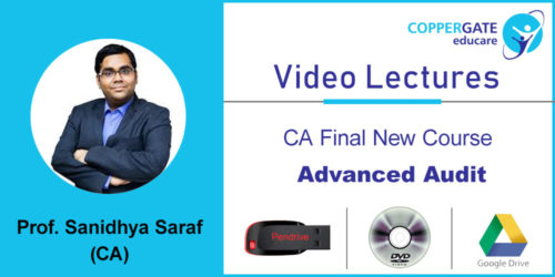 CA Final new Advanced Audit by CA Sandidhya Saraf  [Crash Course ] (Pendrive – 3 views)