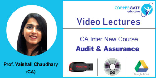 CA Inter  New Audit & Assurance by CA Vaishali Chaudhary [Full Course] (Pendrive – 3 views)