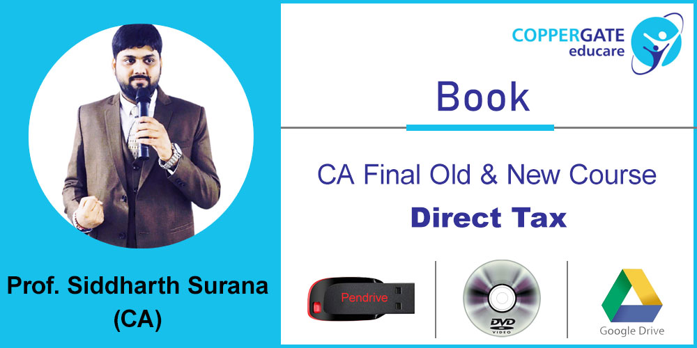 CA FINAL OLD & NEW Direct tax MCQ Book by CA Siddharth N Surana by [Full  Course/Crash course] BOOK