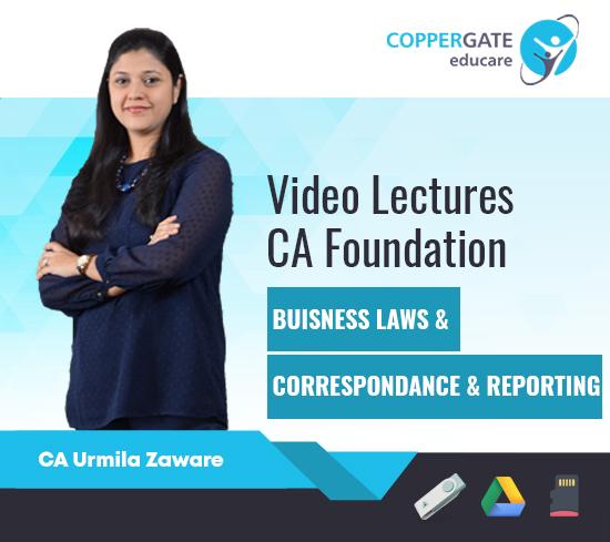 CA Foundation Business laws & Business Correspondence & Recording by CA Urmila Zaware [Regular]