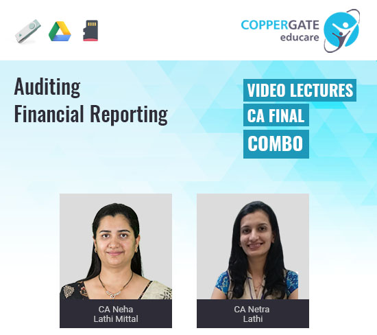 CA Final New/Old Auditing & FR Combo by CA Neha Lathi Mittal & CA Netra Lathi [Regular]