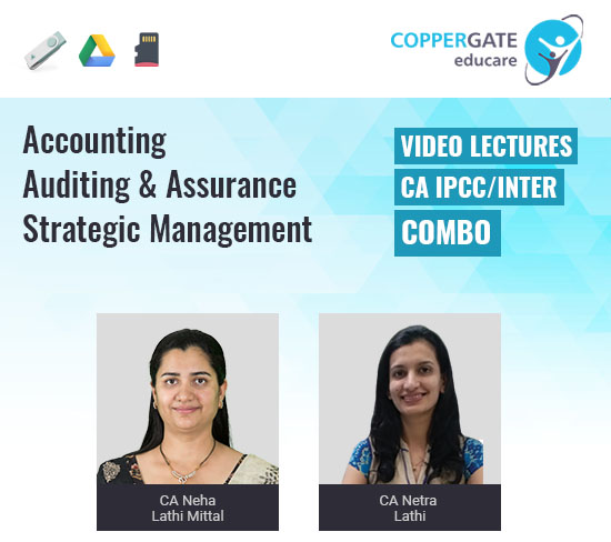 CA Inter Auditing,Accounts,SM by CA Neha Lathi Mittal & CA Netra Lathi [Combo]