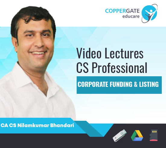 CS Professional Corporate Funding & Listing by CA CS Nilamkumar Bhandari [Full Course]