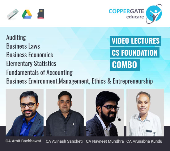 CS Foundation All Subjects by CA Amit Bachhawat,CA Avinash Sancheti,CA Navneet Mundhra,CA Arunabha Kundu