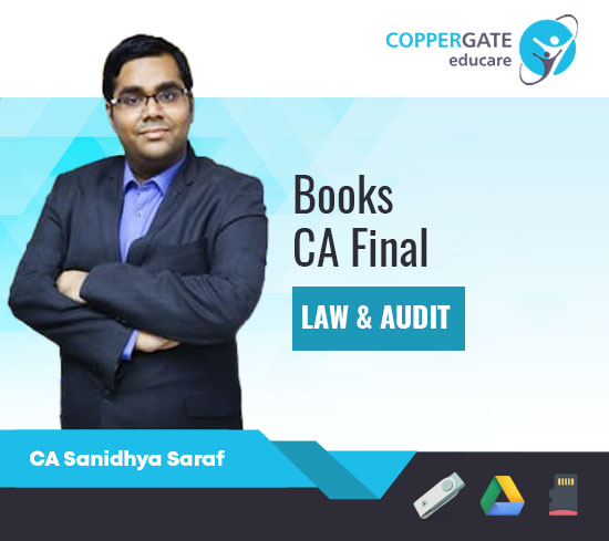 CA Final Law & Audit Concept Book,Question Bank,MCQ's by CA Sanidhya Saraf [E-Book]