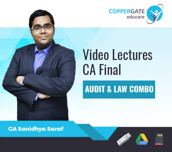 CA Final New/Old Audit & Law Combo by CA Sanidhya Saraf [Regular Course/Fast Track]