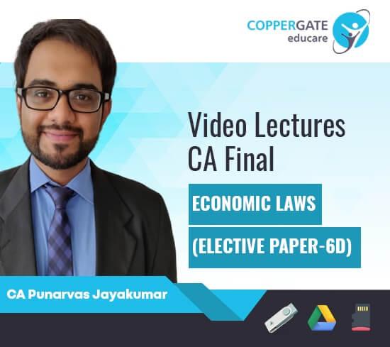 CA Final Corporate and Economic Laws Fastrack (Paper 4) + Economic Laws (Paper 6D)  – PAPER 6D COMBO by CA Punarvas Jayakumar