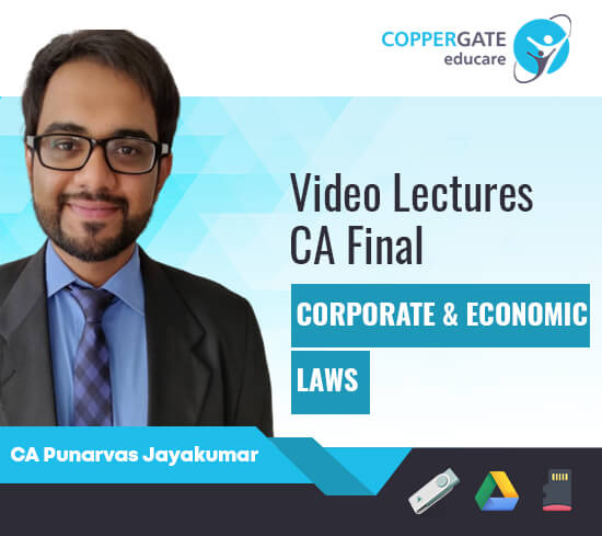CA Final New/Old Corporate & Economic Laws by CA Punarvas Jayakumar [Regular/FastTrack]