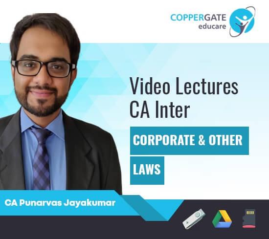 CA Inter Corporate & Other Laws(Paper 3) by CA Punarvas Jayakumar [Regular]