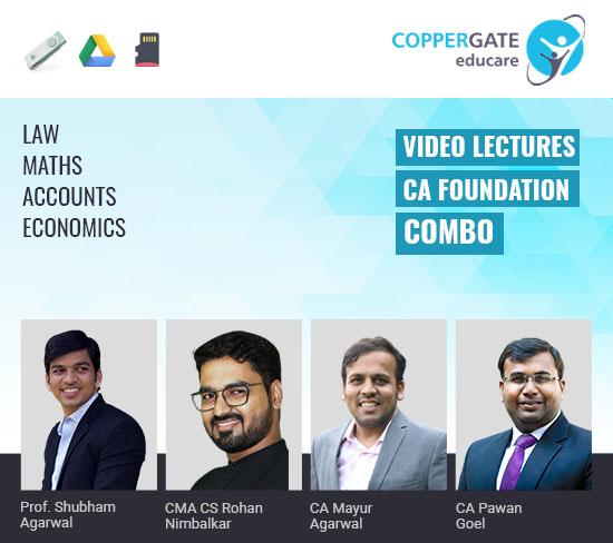 CA Foundation Maths,Accounts,Law & Economics Combo by Prof. Shubham Agarwal,CMA CS Rohan Nimbalkar,CA Mayur Agarwal,CA Pawan Goel