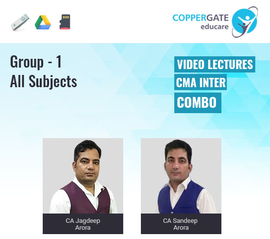 CMA Inter Group-1 Combo by CA Sandeep Arora & CA Jagdeep Arora [Full Course]
