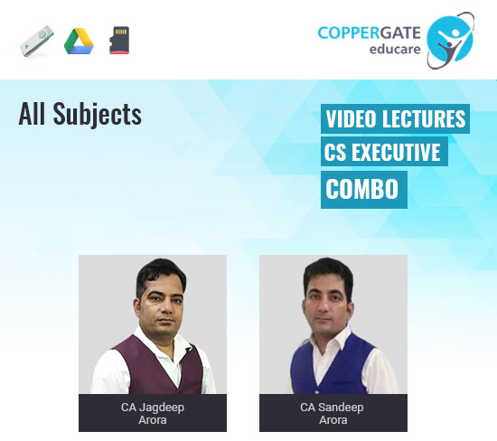 CS Executive New Syllabus Group Combo by CA Jagdeep Arora & CA Sandeep Arora[Full Course]