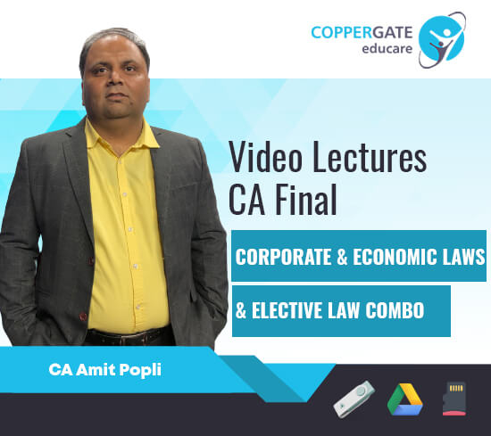 CA Final New Corporate & Economic Laws/Elective Law by CA Amit Popli [Regular]