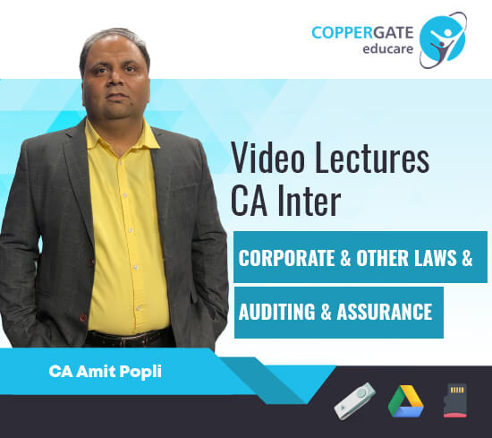 CA Inter Corporate & Other Laws/Auditing & Assurance by CA Amit Popli [Regular]