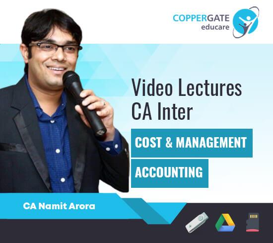 CA Inter Cost Management & Accounting by CA Namit Arora [Regular]