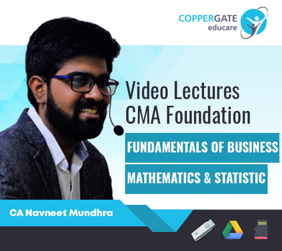 CMA Foundation Fundamentals of Business Mathematics & Statistic by CA Navneet Mundhra