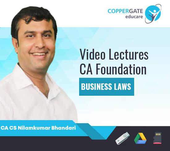 CA Foundation Business Laws by CA CS Nilamkumar Bhandari [Full Course]