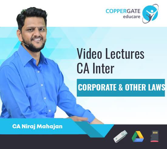 CA Inter Corporate & Other Laws by CA Niraj Mahajan [Regular]