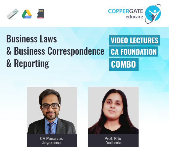 CA Foundation Business Laws & Business Correspondence & Reporting by CA Punarvas Jayakumar & Prof. Ritu Dudhoria [Regular]