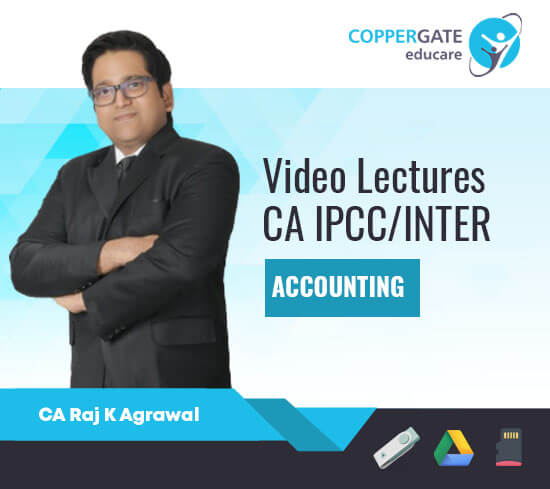 CA Inter/IPCC Group 1 Accounting,Only AS by CA Raj K. Agarwal [Regular]