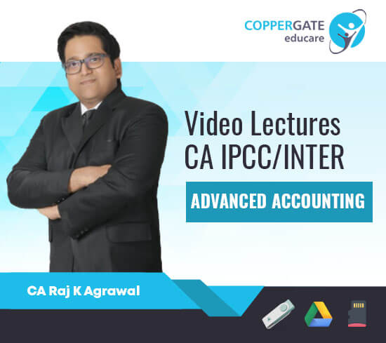 CA Inter/IPCC Group 2 Advanced Accounting,Only AS by CA Raj K. Agarwal [Regular]