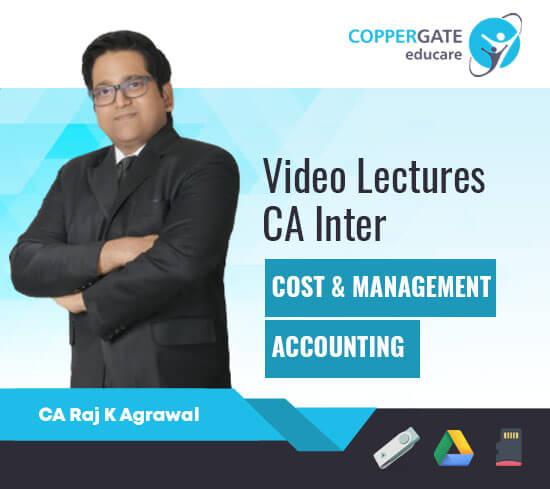 CA Inter Cost & Management Accounting by CA Raj K. Agarwal [Regular]