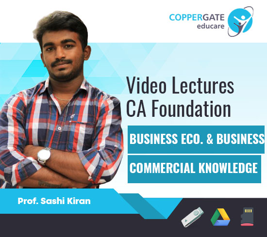 CA Foundation Business Economics & Business Commercial Knowledge by Prof. Shashi Kiran