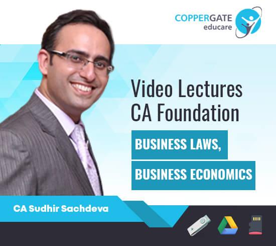 CA Foundation Law & Economics (Sec-A) by CA Sudhir Sachdeva [Regular]