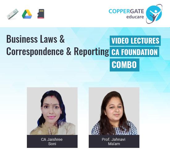 CA Foundation Business Laws & Correspondence & Reporting by CA Jaishree Soni & Jahnavi Ma'am