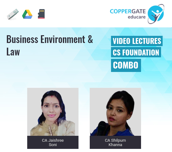 CS Foundation Business Environment & Law by CA Jaishree Soni & CA Shilpum Khanna