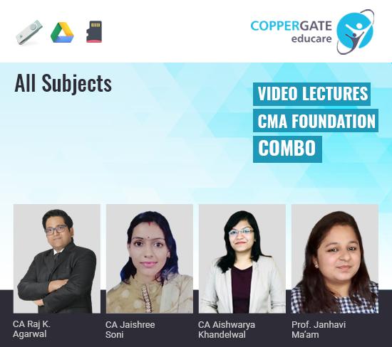 CMA Foundation All Subjects Combo by CA Raj K Agrawal,CA Jaishree Soni,CA Aishwarya Khandelwal & Janhavi Ma'am