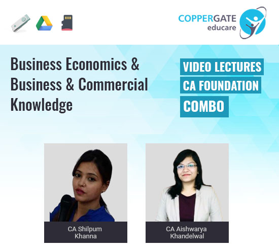 CA Foundation Business Economics & Business & Commercial Knowledge by CA Shilpum Khanna & CA Aishwarya Khandelwal