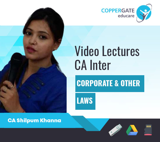 CA Inter Corporate & Other Laws (Including MCQ's) by CA Shilpum Khanna