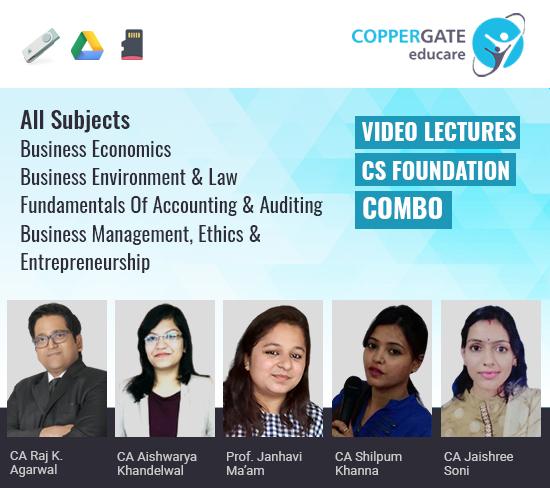 CS Foundation All Subjects Combo by CA Raj K Agrawal,CA Aishwarya Khandelwal,Prof. Janhavi Ma'am,CA Shilpum Khanna & CA Jaishree Soni
