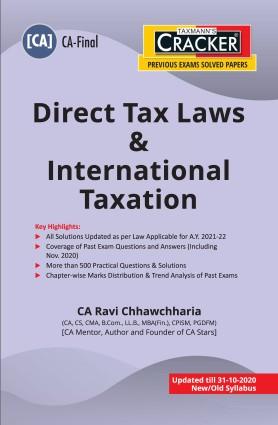 CA Final New Syllabus Direct Tax Laws & International Taxation by  CA Ravi Chhawchharia [ Cracker-cum-Compiler]