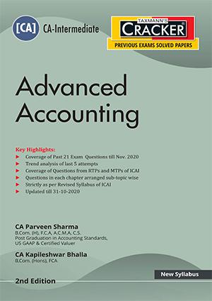 CA Inter Advanced Accounting by CA Parveen Sharma/CA Kapileshwar Bhalla [ Cracker-cum-Compiler]