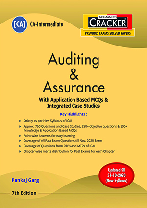 CA Inter Auditing and Assurance with Application Based MCQs & Integrated Case Studies by Pankaj Garg [ Cracker-cum-Compiler]