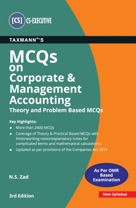 CS Executive MCQs on Corporate & Management Accounting by N.S. ZAD [Concise Study Material]