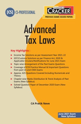 CS Professional Advanced Tax Laws by  Pratik Neve [Cracker-cum-Compiler]