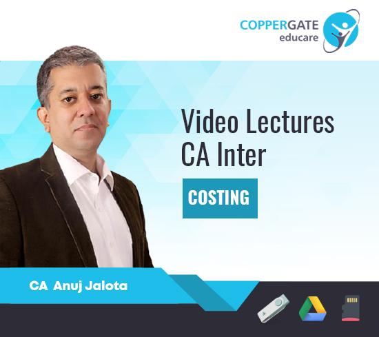 CA Inter Costing by CA Anuj Jalota [Regular]- 17 Edition