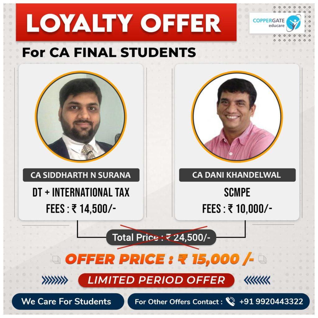CA Final DT+International taxation & SCMPE by CA Siddharth Surana, CA Dani Khandelwal
