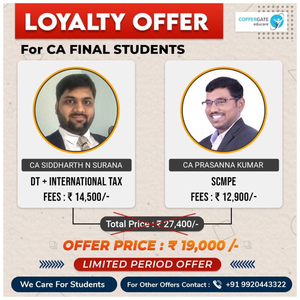 CA Final DT+International taxation & SCMPE by CA Siddharth Surana, CA Prasanna Kumar
