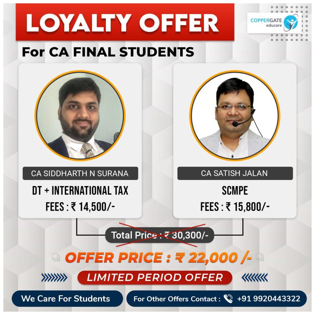 CA Final DT+International taxation & SCMPE by CA Siddharth Surana, CA Satish Jalan